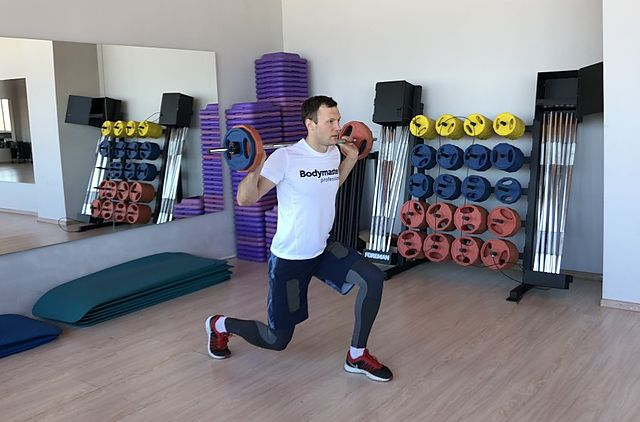 Photo of Barbell Lunge exercise