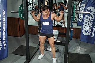Barbell Squat To A Bench