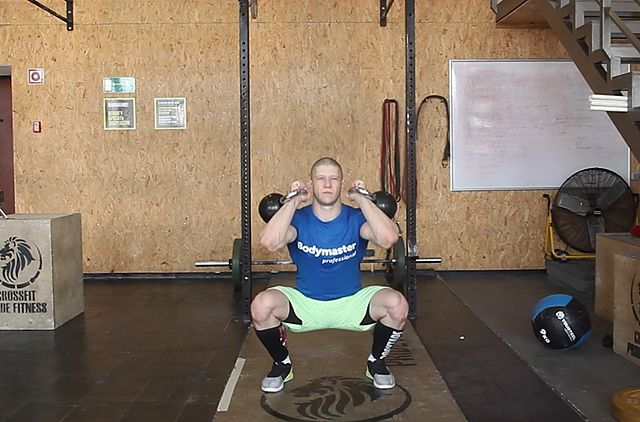 Photo of Front Squats With Two Kettlebells exercise