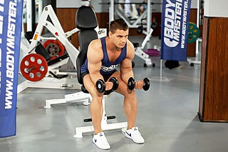 Palms-Up Dumbbell Wrist Curl Over A Bench