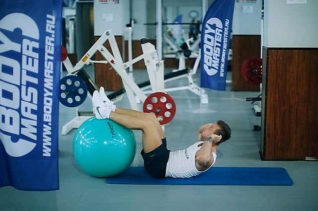 Photo of Crunch - Legs On Exercise Ball exercise