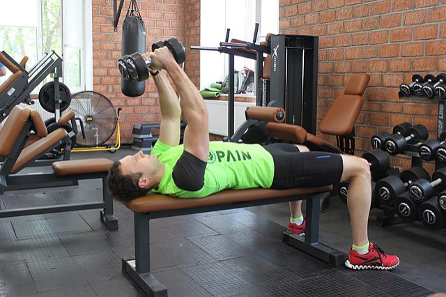Photo of Lying Dumbbell Tricep Extension  exercise
