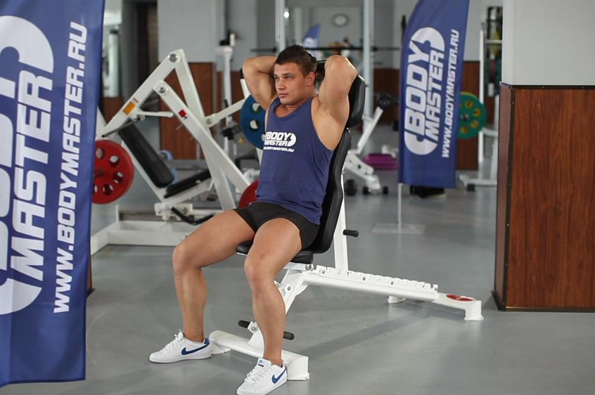Exercise Seated Triceps Press