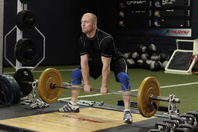 Упражнение Широкая становая тяга
