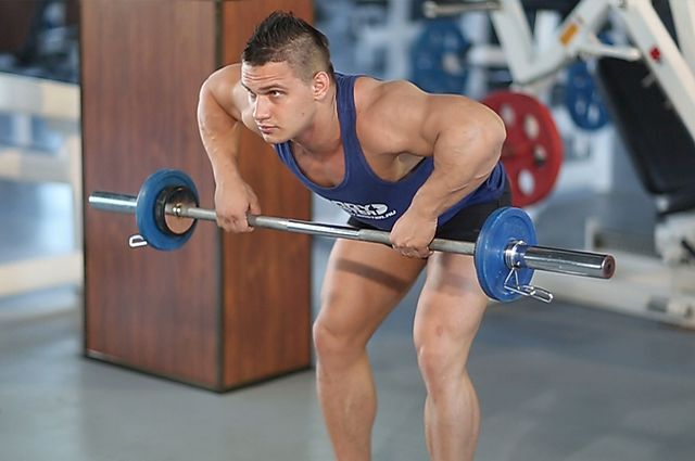 Photo of Barbell Rear Delt Row  exercise
