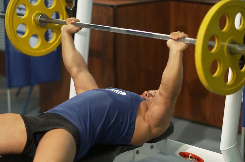 Exercise Barbell Bench Press - Medium Grip