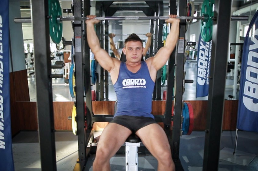 Exercise Barbell Shoulder Press