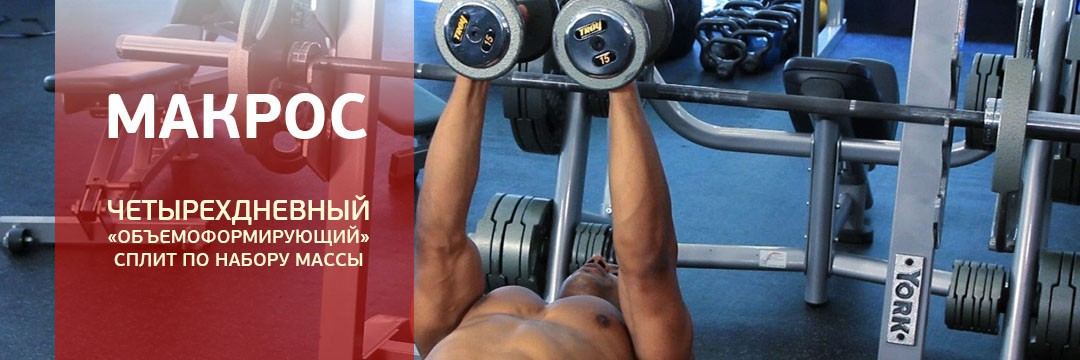 Mass Gain » 4 workouts per week for mass gain