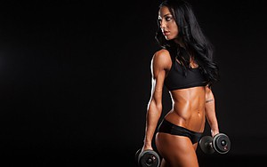 Dumbbells and barbells: three days a week for girls at home