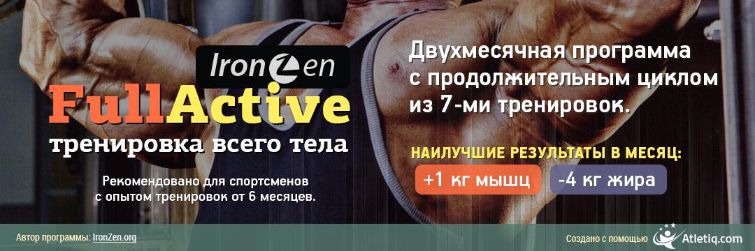 Бодибилдинг программа на два месяца с тренировками до мышечного отказа.