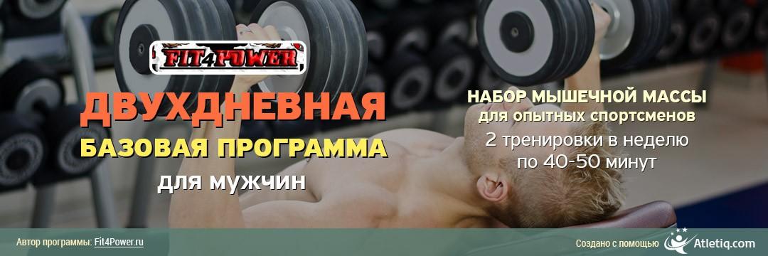 Набор мышечной массы » Базовая двухдневная программа