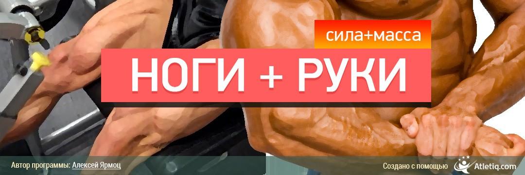 Набор мышечной массы » Руки и Ноги (масса + сила)