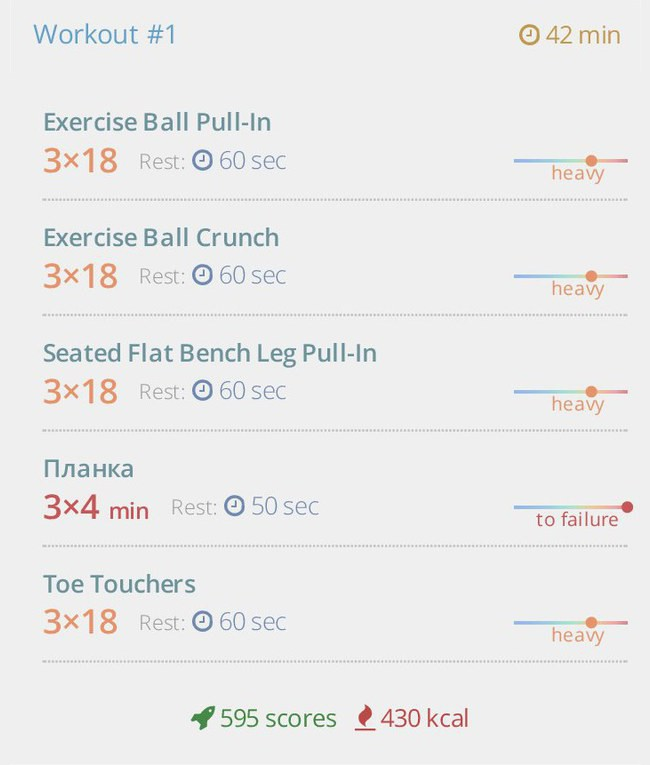 Express — ABS: female version of home workout тренировка 1